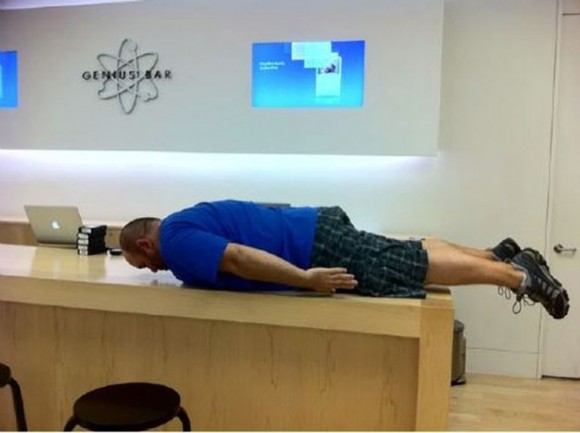 Apple Store Genius Bar Planking