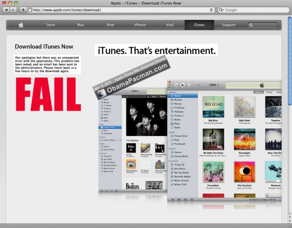 FAIL Apple iTunes Mac Download Broken