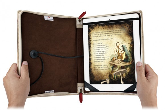 iPad and iPad 2 leather book case folio