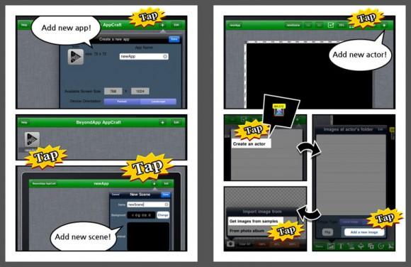 AppCraftHD Tutorial comic 1
