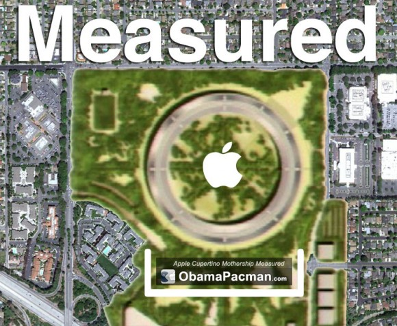 Apple Campus Measured