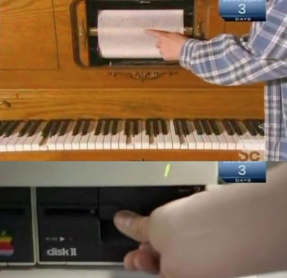 Apple II writes music for self playing piano