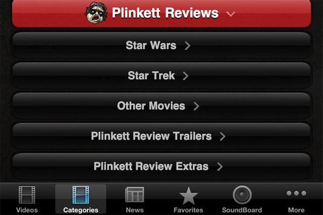 Plinkett Star Wars Star Trek movie reviews iPhone app