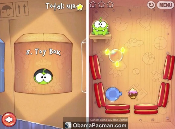Cut the Rope Toy Box Update for iPhone iPod touch iPad