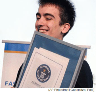Eduard Saakashvili iPad Speed Typing Guinness World Records