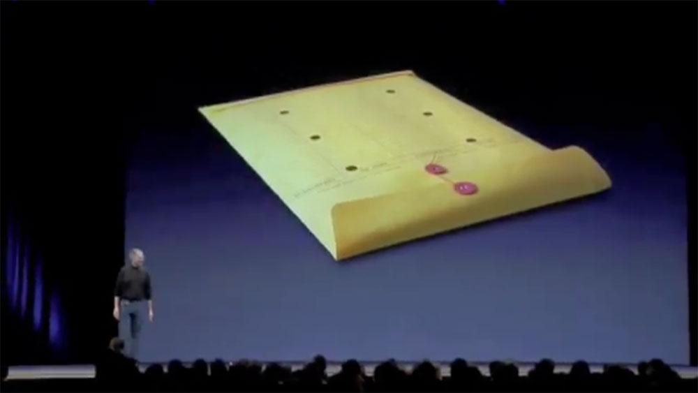 Macbook Air Envelope Steve Jobs 2008 Keynote Obama Pacman