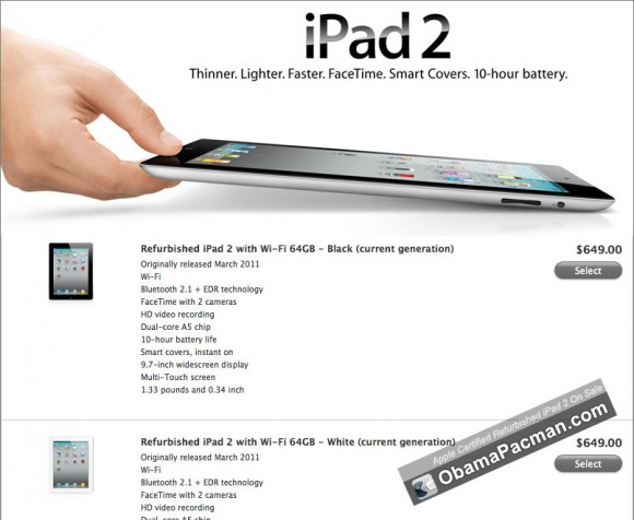 Apple Certified Refurbished iPad 2 Sale