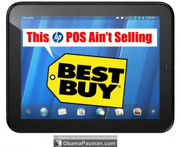 BestBuy: Low Demand for HP TouchPad Tablet, 10% Inventory Sold