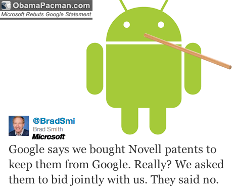 Microsoft Rebuts Google Patents Attack Android Statement