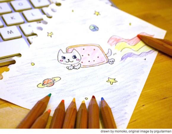 Nyan Cat song & drawing by Momoko Fujimoto