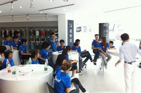 Sinzd Fake Apple Store Employees Zhongshan, China