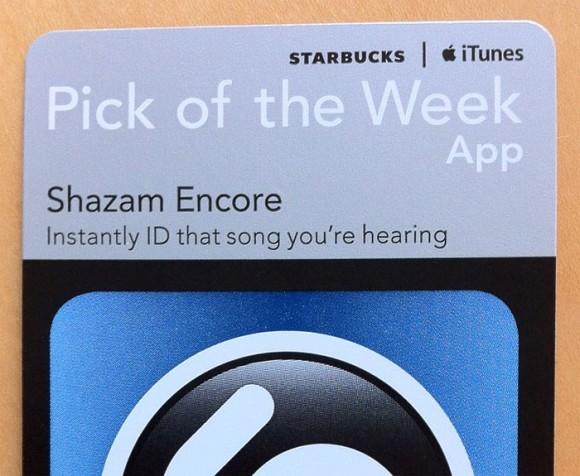 Starbucks App Store Promo Shazam Encore