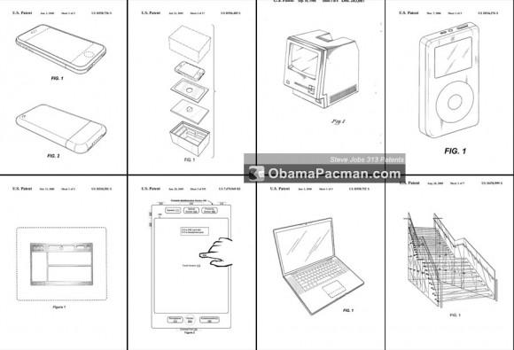 Steve Jobs Inventor 313 patents