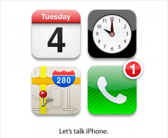 Apple 2011 iPhone 5 4s Media Event Press Invitation