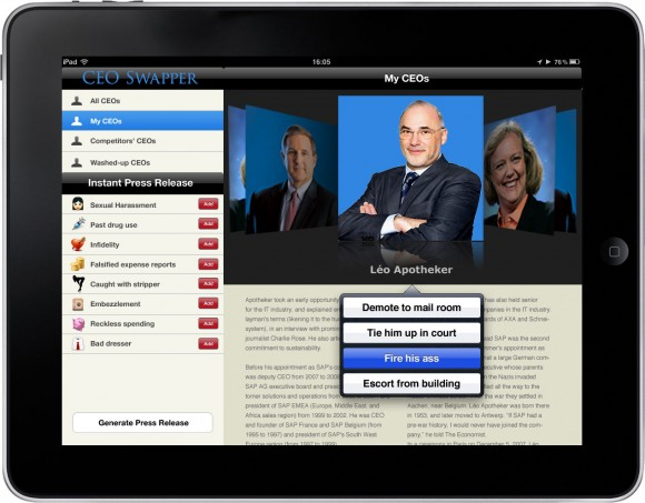 HP CEO Swapper iPad App