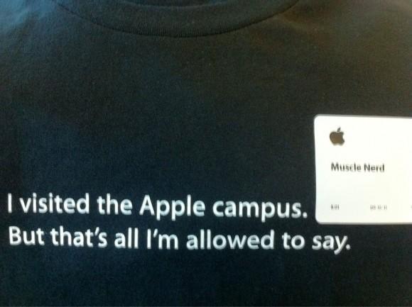 MuscleNerd Apple Headquarters visit T-Shirt