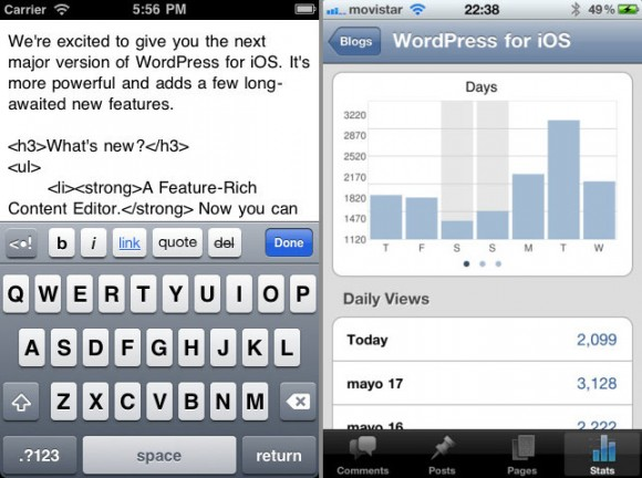 Wordpress iPhone iPad App