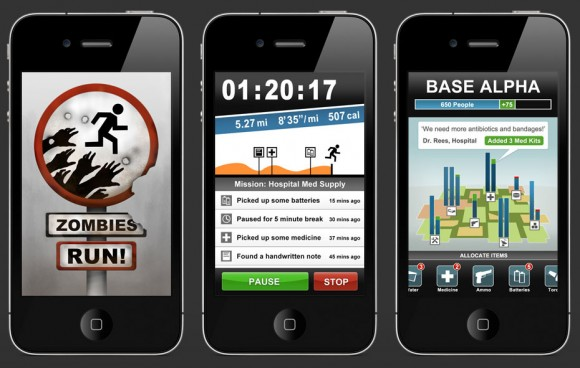 Zombies Run, iPhone running game & audio adventure