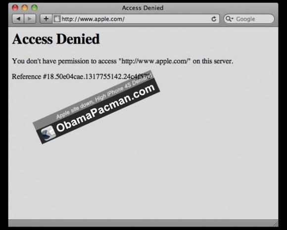 Apple website down, High iPhone 4S Demand