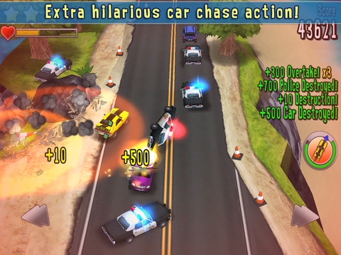Reckless Getaway iPad iPhone top down racing game