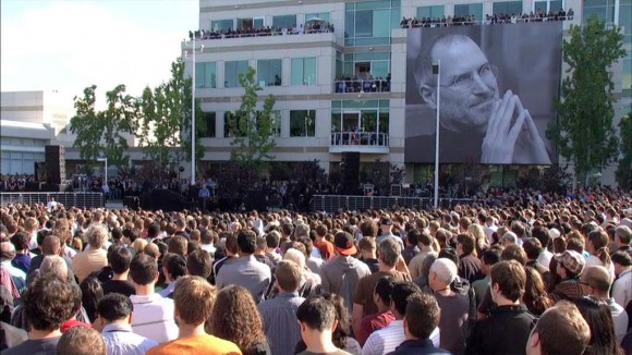Steve Jobs mural Apple headquarters