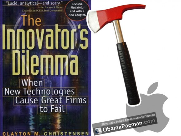 Steve Jobs solved Clay Christensen Innovator's Dilemma