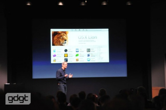 Tim Cook iPhone 5 Media Event Mac OS X Lion