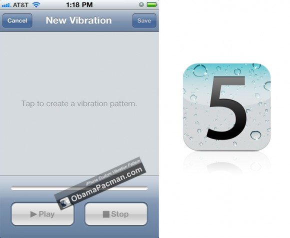 iOS 5 iPhone Custom Vibration Pattern