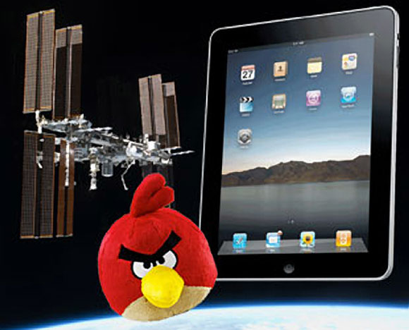 iPad Red Angry Birds International Space Station mission