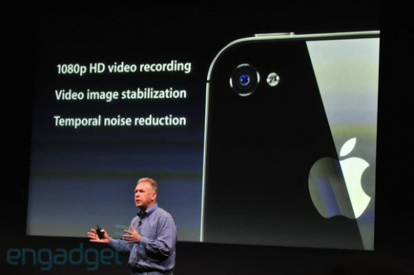 iPhone 4S 1080P video camera specs