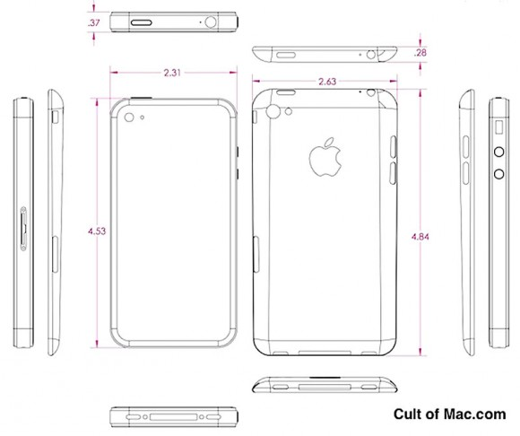 iPhone 5 vs iPhone 4s CAD mockup