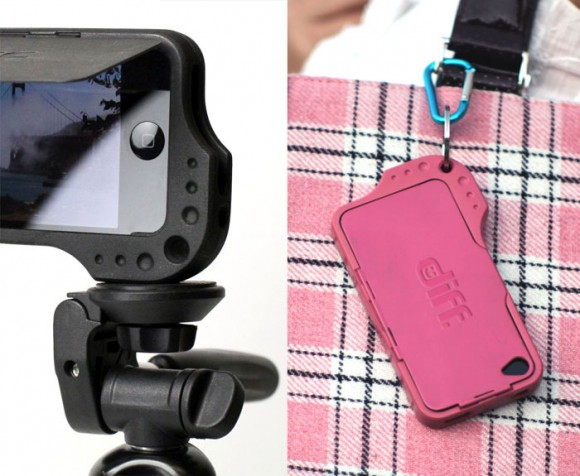 Diffcase iPhone 4S 4 Tripod Mount Keyring Case