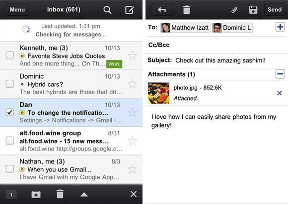 Gmail App for iPhone iPod touch iPad