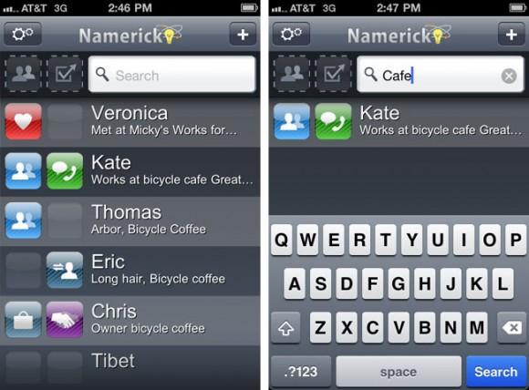 Namerick iPhone app find names