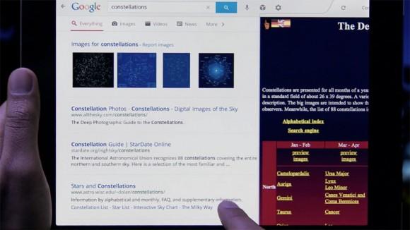 Split browser, Google Search iPad App