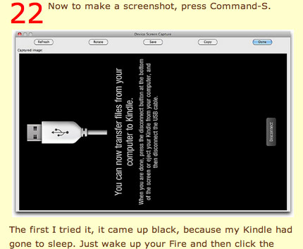 Step 22, How to take screenshot on Kindle Fire Android tablet