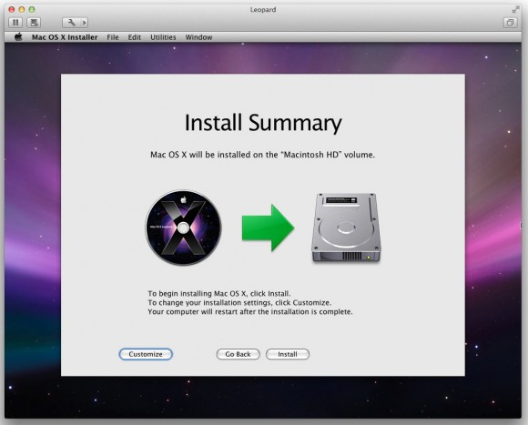 VMWare Fusion Mac OS X Leopard Virtual Machine