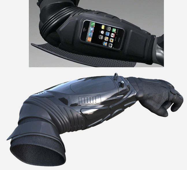 Batman Arm Armor with Pip-Boy iPhone Dock | Obama Pacman