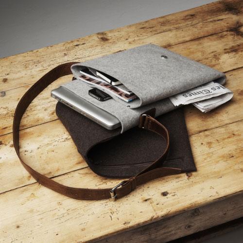 Classy Mac laptop messenger bag brown charcoal