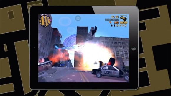 Grand Theft Auto 3 iPad, helicopter explosion