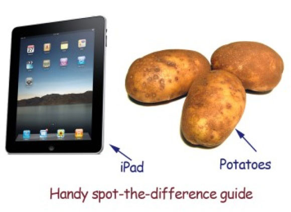 iPad vs potatoes