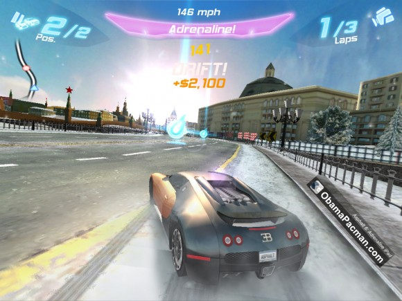 iPhone iPad racing game bugatti veyron, Asphalt 6 Adrenaline