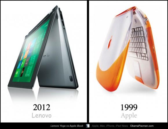 2012 Lenovo IdeaPad Yoga vs. 1999 Apple iBook