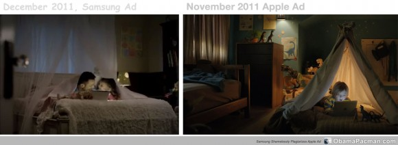 Samsung plagiarizes Apple iPad commercial