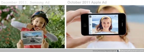 Samsung plagiarizes iPhone ad