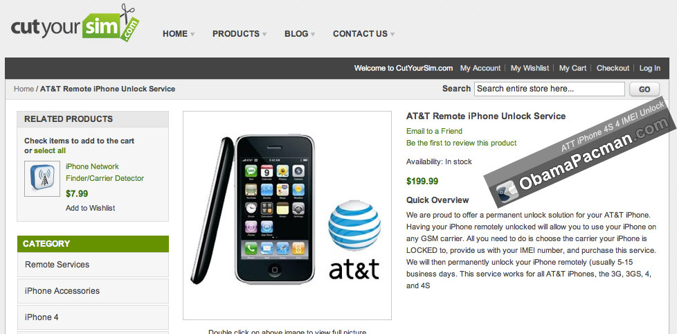 AT&T iPhone 4S, 4, 3GS, 3G IMEI Factory Unlock Service | Obama Pacman
