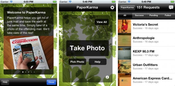 Paper Karma iPhone App stops junk mail