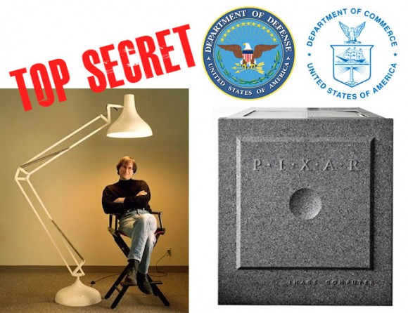 Steve Jobs Pixar DOD Top Secret
