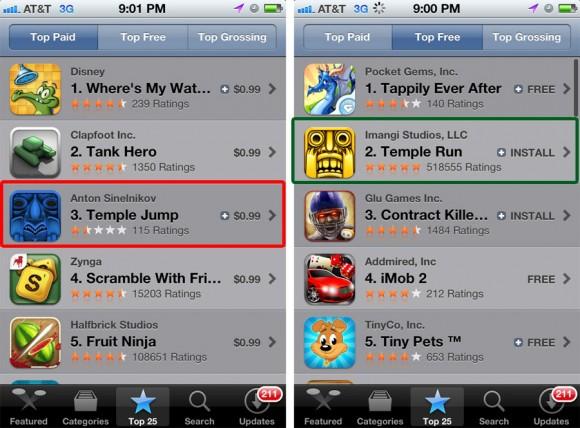 Temple Jump vs Temple Run