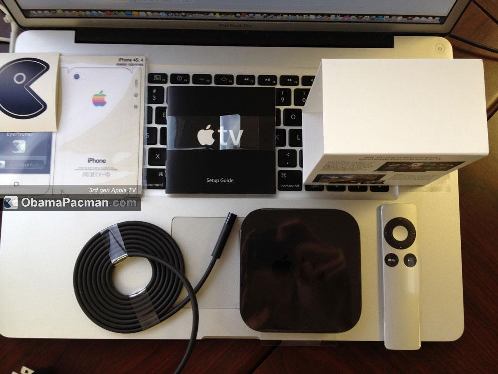 2012 apple tv 3rd gen unboxing obama pacman. Black Bedroom Furniture Sets. Home Design Ideas
